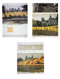 the gates, project for central park, new york city (3 works) by christo and jeanne-claude