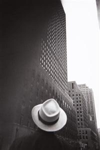 looking towards the rca building, rockefeller center, n.y.c by louis faurer