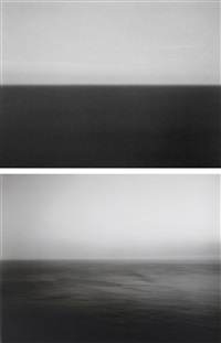 time exposed #370: marmara sea silivli (+ time exposed #305: sea of japan, hokkaido; 2 works) by hiroshi sugimoto