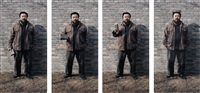 to fight with crossed-arms (4 works) by ai weiwei