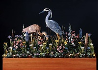herons in a stream by james grashow