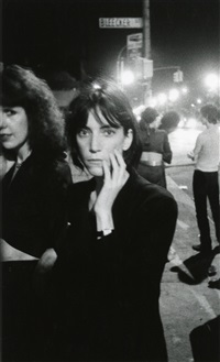 patti smith, bowery 1976 by godlis