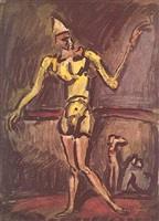 clown jaune by georges rouault