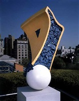 shuttlecock/blueberry pies i and ii (detail) by coosje van bruggen and claes oldenburg