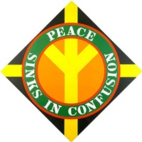 peace sinks in confusion by robert indiana