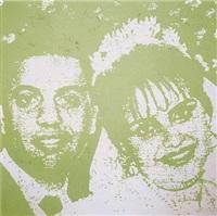 les mariés (verts) by ghada amer