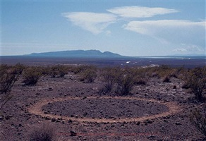 boot circle, a seven day walk on the east bank of the rio grande, new mexico by richard long