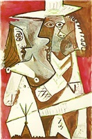 homme et femme by pablo picasso