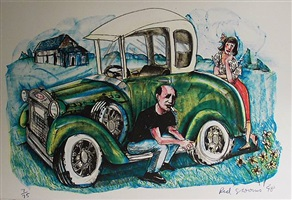 pollock's model a by red grooms