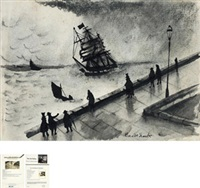 亲笔签名画 (w/ certificate) by claude monet