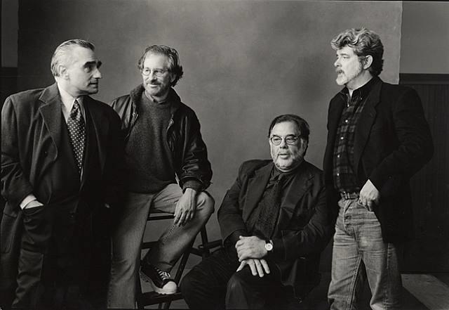 the whiz kids: scorcese, lucas, spielberg, coppola, 1996 by annie leibovitz