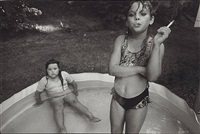 amanda and her cousin amy valese, north carolina, 1990 by mary ellen mark