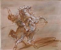 etude pour la chute du cavalier by claude weisbuch