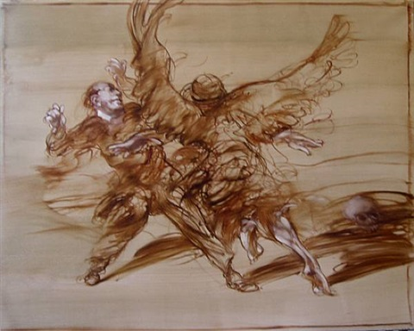 lutte avec l'ange by claude weisbuch