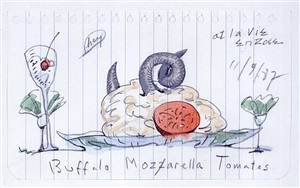 mozzarella di buffala, new york by coosje van bruggen and claes oldenburg