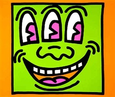 icon (face) ed. of 250 by keith haring