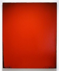 red painting by joseph marioni