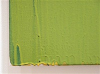 green painting - detail by joseph marioni