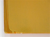 ochre painting - detail by joseph marioni