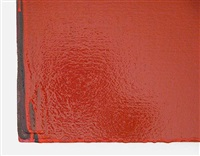 red painting - detail by joseph marioni
