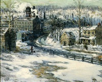 the mills in winter by frederick r. wagner
