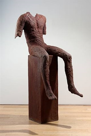 seated boy by magdalena abakanowicz