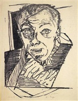 self-portrait by max beckmann
