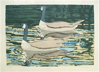 canadian geese by neil welliver