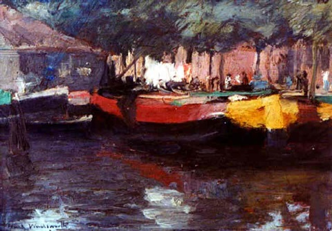 boat scene by frank russell wadsworth