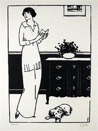la lecture interrompue (also la liseuse) by jean-emile laboureur