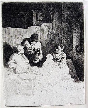 the mother seated in an inn by cornelis pietersz bega