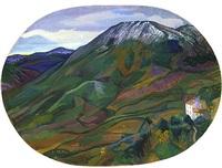 mountain landscape, muro lucano by joseph stella