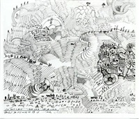 egyptian landscape by saul steinberg
