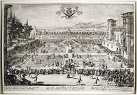 parterre du palais de nancy (gardens of the palace at nancy) by jacques callot