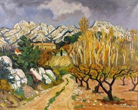 automne en provence by yves brayer
