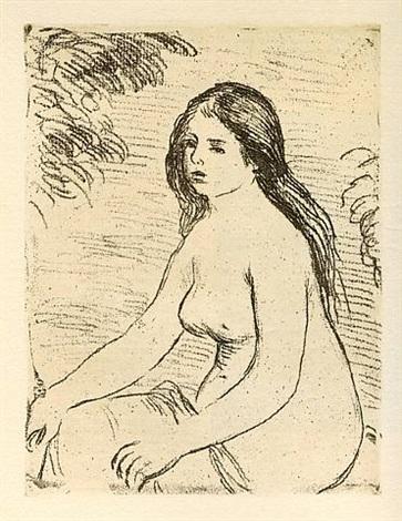 femme nue assise (delteil 12) by pierre-auguste renoir