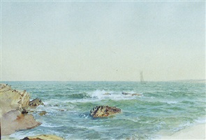 a sunny afternoon off graycliff, conanicut by william trost richards