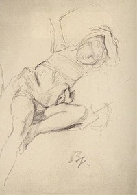 girl with raised hands (michelina) by balthus