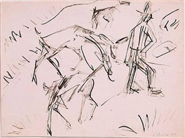 goats and goatherds by ernst ludwig kirchner