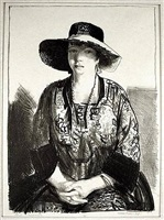 the black hat (emma in a black hat) by george wesley bellows