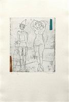 giocolieri, 1971, plate i from tout pres de marini, published 1971 by marino marini
