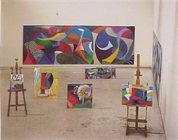 studio painting by david hockney