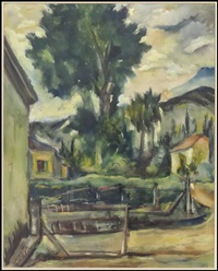 outdoor scene by isidor aschheim