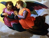 two angels facing left by agostino ciampelli
