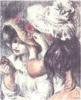 le chapeau epingle, 2nd planche by pierre-auguste renoir