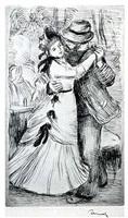 la danse à la campagne, 2e panche by pierre-auguste renoir