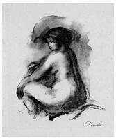 étude de femme nue, assise by pierre-auguste renoir