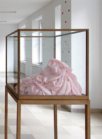 pink silk object by james lee byars