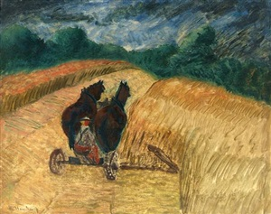 harvest by milton avery