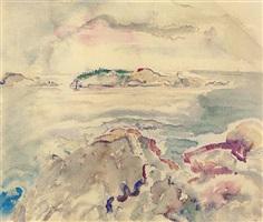 grand island, maine by john marin